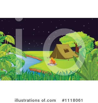 Campfire Clipart #1118061 by Graphics RF