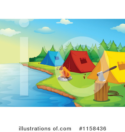 Camping Clipart #1158436 by Graphics RF