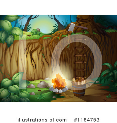 Campfire Clipart #1164753 by Graphics RF