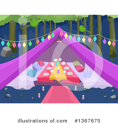 Royalty-Free (RF) Camping Clipart Illustration by BNP Design Studio - Stock Sample #1367675
