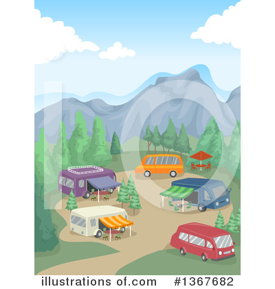 Camping Clipart #1367682 by BNP Design Studio