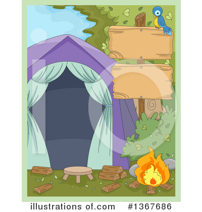 Camping Clipart #1367686 by BNP Design Studio