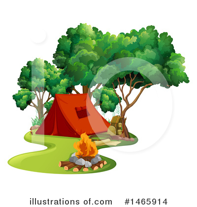 Campfire Clipart #1465914 by Graphics RF