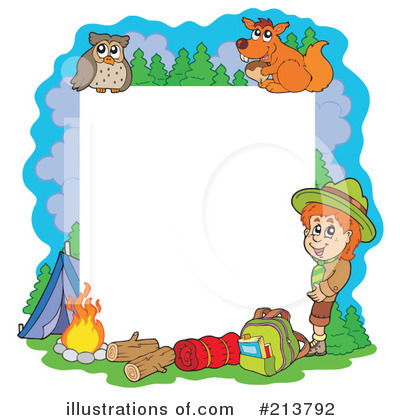 Camping Clipart Illustration By Visekart - Camping clip art