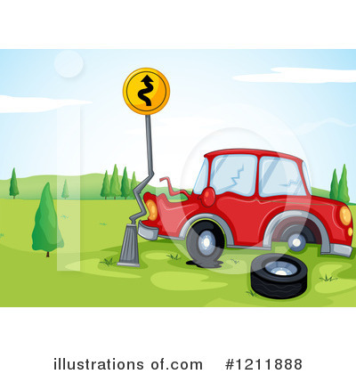 Car Accident Clipart #1211888 - Illustration by colematt