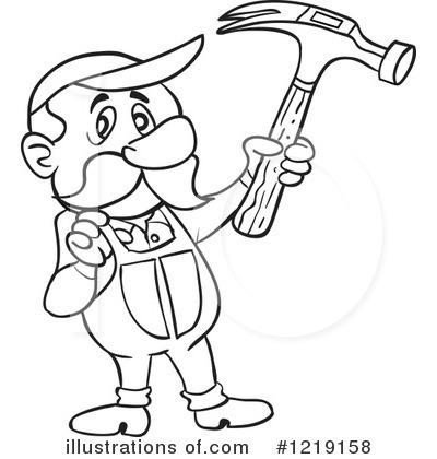 Carpenter Clip Art Black and White – Cliparts  Carpenter Clip ...