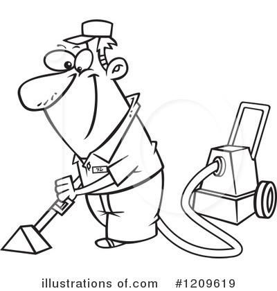 Carpet Cleaning Clipart #1209619 - Illustration by toonaday