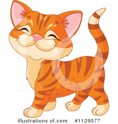 Royalty free cat. Clipart illustration by pushkin