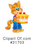 Cat Clipart #31703 by Alex Bannykh