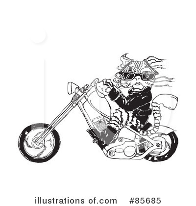 Motorcycle Clipart #85685 by Spanky Art