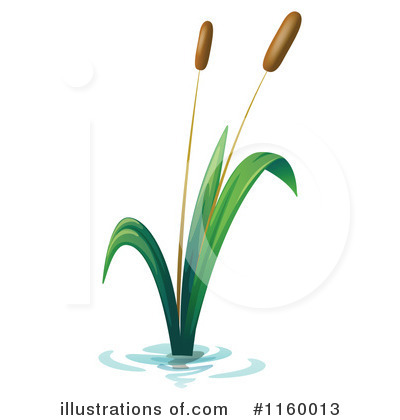 Cattail Clipart #1160013 - Illustration by Graphics RF