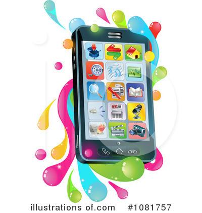 Cell Phone Clipart 1081757 Illustration By Atstockillustration