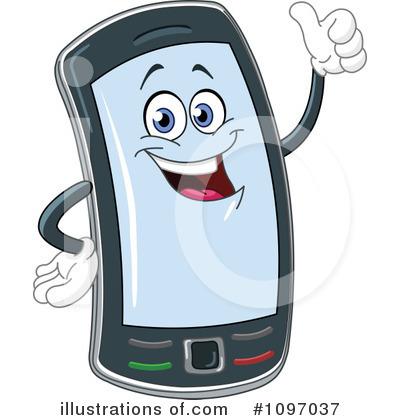 Cellphone Clipart 1097037 Illustration By Yayayoyo