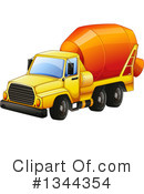 Cement Truck Clipart #212284 - Illustration by Pams Clipart