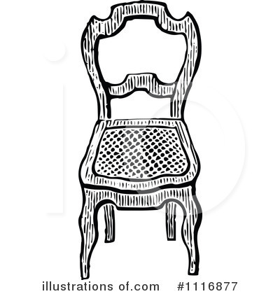 chair clipart. royalty-free (rf) chair clipart illustration #1116877 by prawny vintage