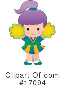 Cheerleader Clipart #17094 by Maria Bell
