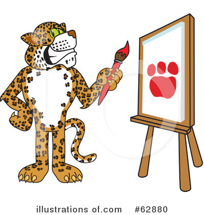 Cheetah Character Clipart #62880 by Toons4Biz