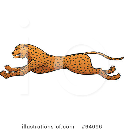 Cheetah Clipart #64096 - Illustration by Paulo Resende