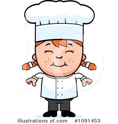 Chef Clipart #1091453 - Illustration by Cory Thoman