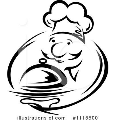 Royalty-Free (RF) Chef Clipart Illustration by Vector Tradition SM - Stock Sample #1115500