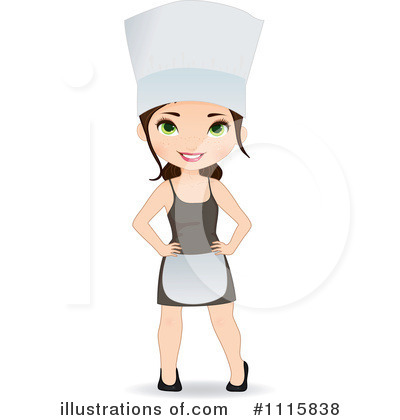 chef clipart 1115838 illustration by melisende vector rh illustrationsof com female chef clipart black and white female chef clipart images