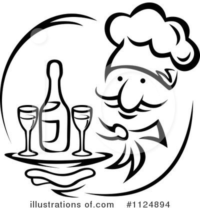 Champagne Clipart #1124894 by Vector Tradition SM