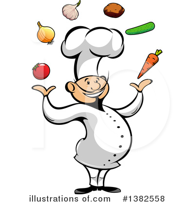 Chef Clipart #1382558 by Vector Tradition SM