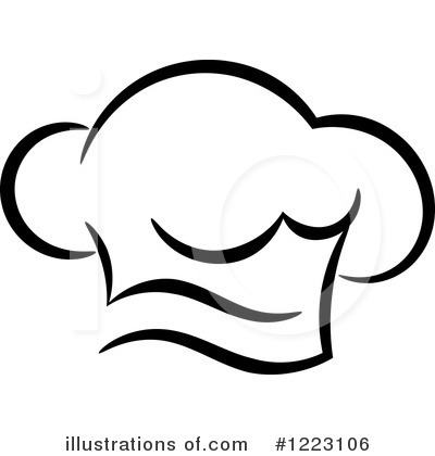 Chef Hat Clipart #1223106 - Illustration by Vector Tradition SM