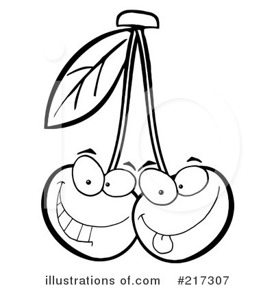 Cherries Clipart #217307 - Illustration by Hit Toon