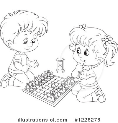 Chess Table And King Coloring Page - Free Stock Images & Photos ...   420x400