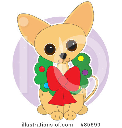 Chihuahua Clipart #85699 - Illustration by Maria Bell