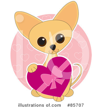 Chihuahua Clipart #85707 - Illustration by Maria Bell