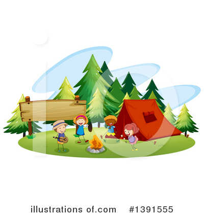 Campfire Clipart #1391555 by Graphics RF