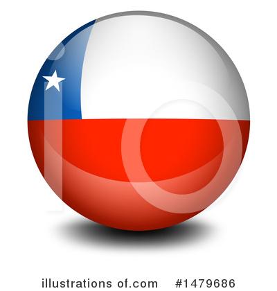 Clip Art: Flags: Chile B&W I abcteach.com   abcteach