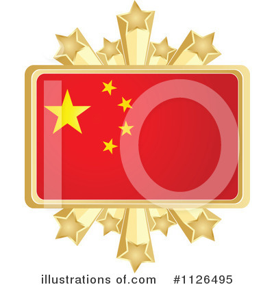 Chinese Flag Clipart 1103068 Illustration By Andrei Marincas