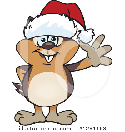 Chipmunk Clipart #1281163 - Illustration by Dennis Holmes Designs