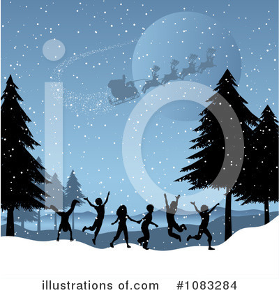 Christmas Background Clipart #1083284 by KJ Pargeter
