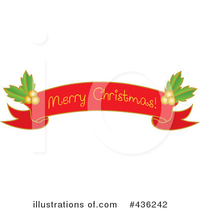 Christmas Banner Clipart #436242 by Pams Clipart