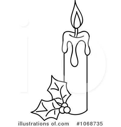 Royalty Free RF Christmas Candle Clipart Illustration By Rosie Piter