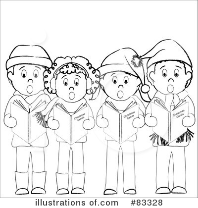 Christmas Caroling Clipart #83328 - Illustration by Pams Clipart