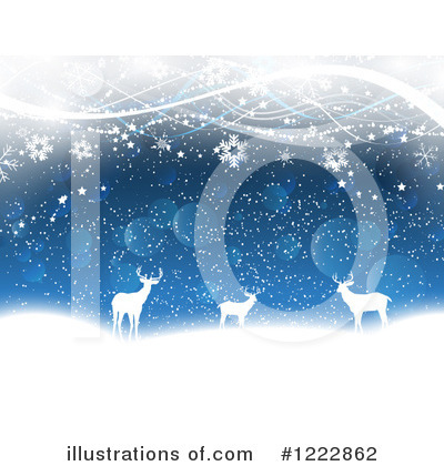 Winter Landscape Clipart #1222862 by KJ Pargeter
