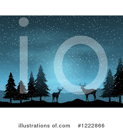 Winter Landscape Clipart #1222866 by KJ Pargeter