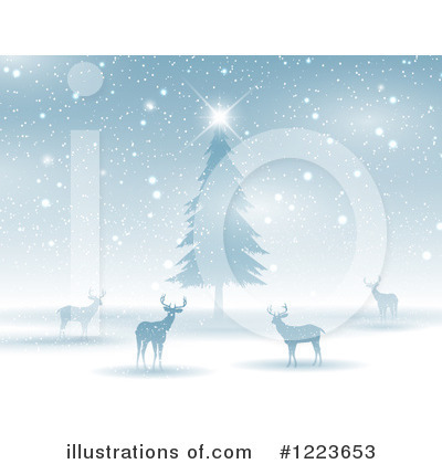 Winter Landscape Clipart #1223653 by KJ Pargeter