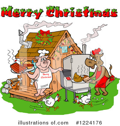 Christmas Clipart #1224176 by LaffToon