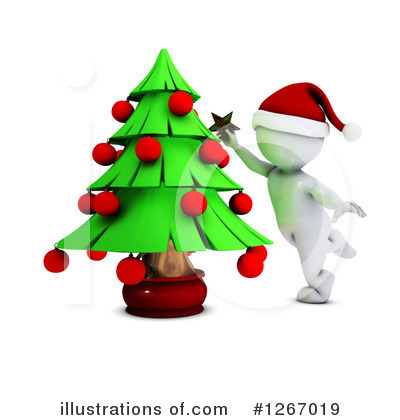 Christmas Tree Clipart #1267019 by KJ Pargeter