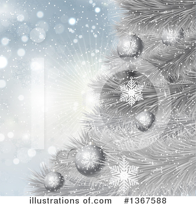 Christmas Tree Clipart #1367588 by KJ Pargeter