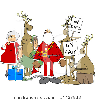 Royalty-Free (RF) Christmas Clipart Illustration by djart - Stock Sample #1437938