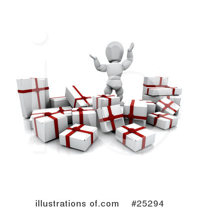 Christmas Shopping Clipart #25294 by KJ Pargeter