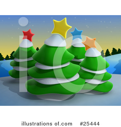 Royalty-Free (RF) Christmas Clipart Illustration by 3poD - Stock Sample #25444