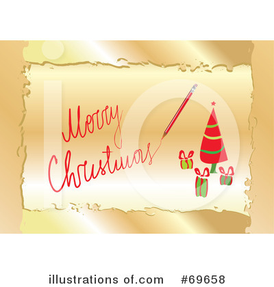 Christmas Greeting Clipart #69658 by MilsiArt
